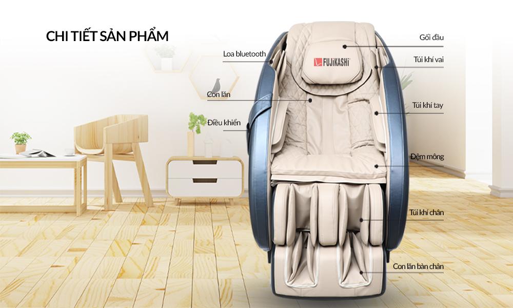 Chi tiết sản phẩm ghế massage Fujikashi FJ-1500