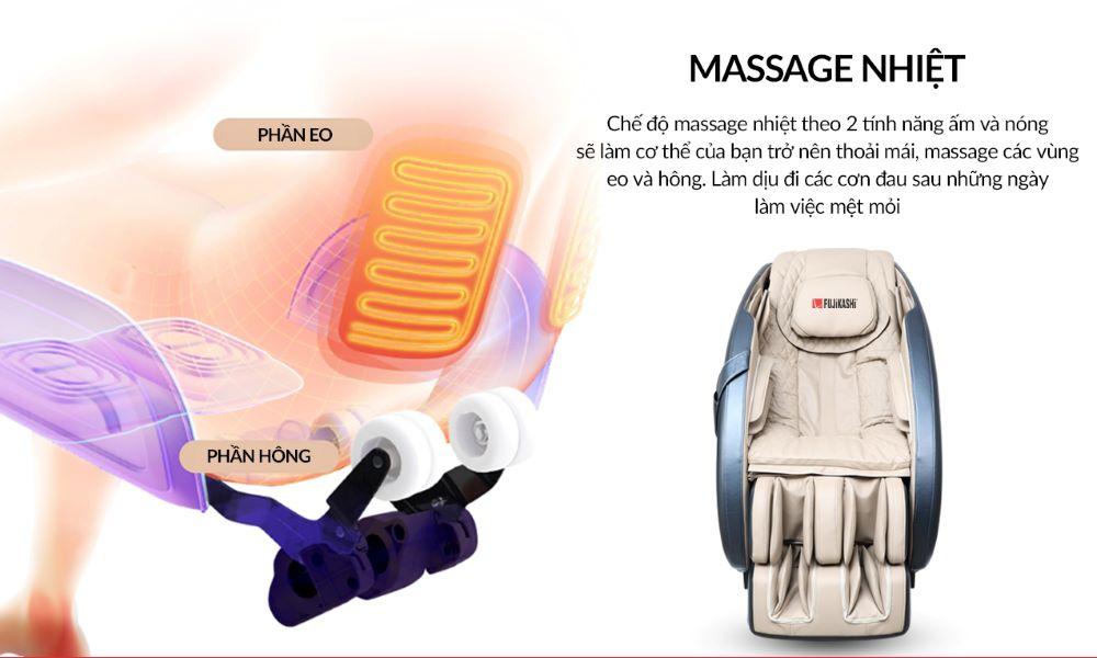 Chương trình massage nhiệt hồng ngoại