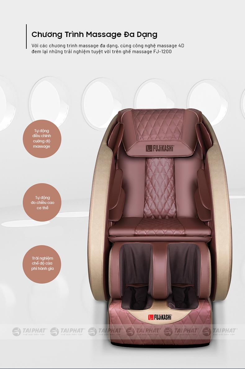 Ghế được thiết kế theo tiêu chuẩn người Việt với chương trình massage đa dạng