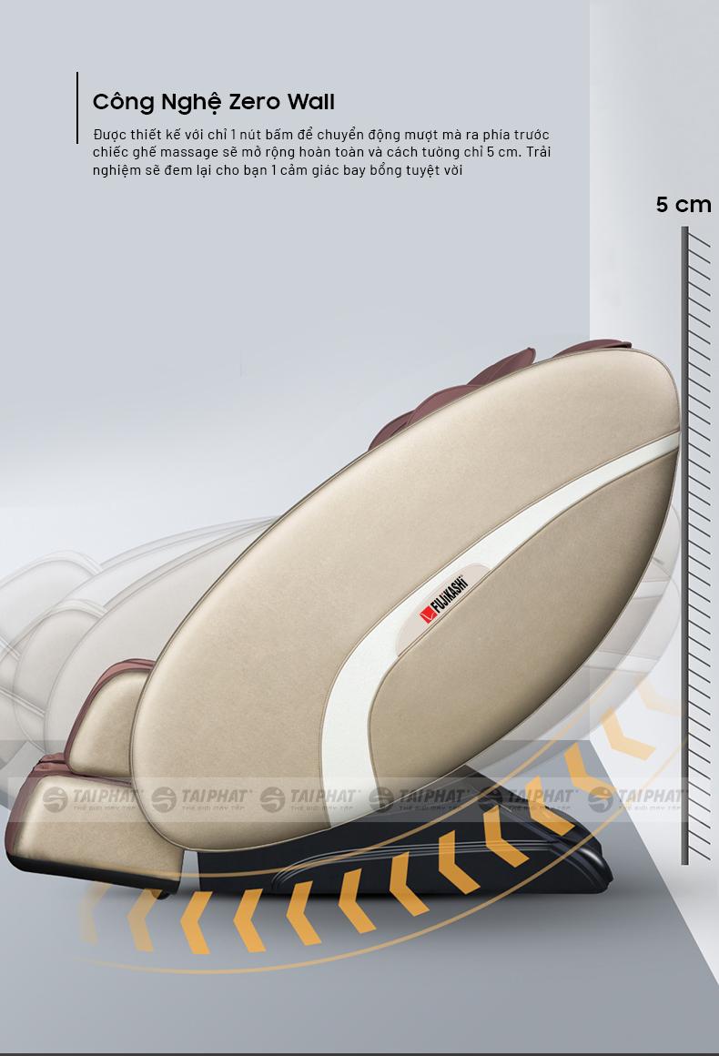 Tính năng lùi tường tự động thông minh cho ghế Fujikashi FJ-1200